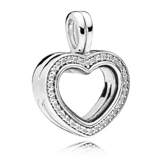 Pandora Sparkling Floating Heart CZ Locket