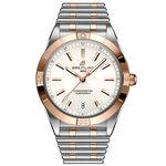 Breitling Chronomat Automatic 36 White Watch, 18K & Steel