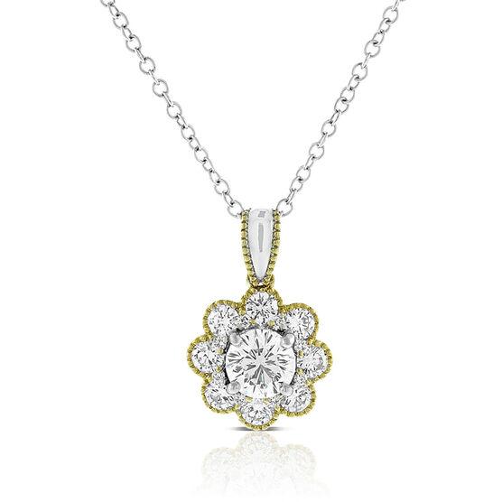 Signature Forevermark Two-Tone Diamond Necklace 18K