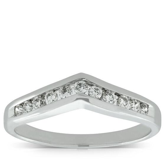 Diamond Contour Wedding Band 14K