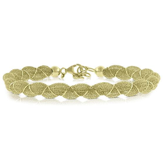 Toscano Wrapped Mesh Bracelet 14K