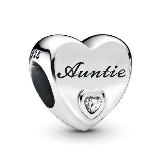 Pandora Auntie Love Heart CZ Charm