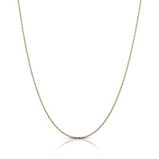 """Rose Gold Rope Chain 14K, 18"""""""