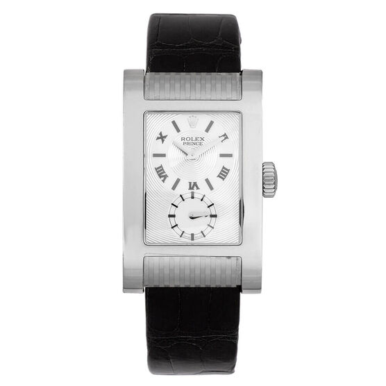 Pre-Owned Rolex Cellini Prince Silver Dial Watch, 27mm, 18K