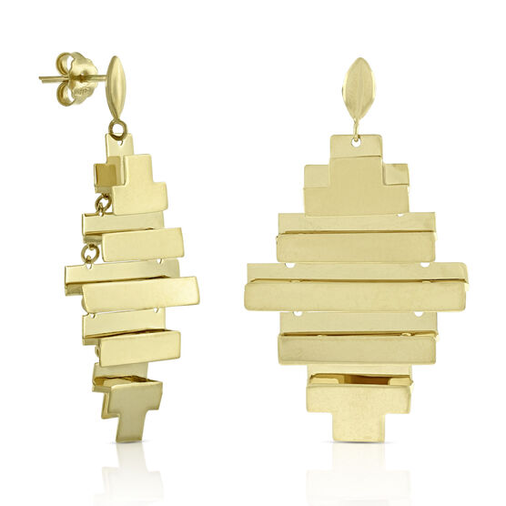 Toscano Layered Earrings 14K