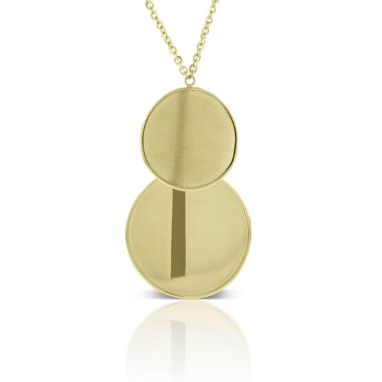 Toscano Double Disc Necklace 14K