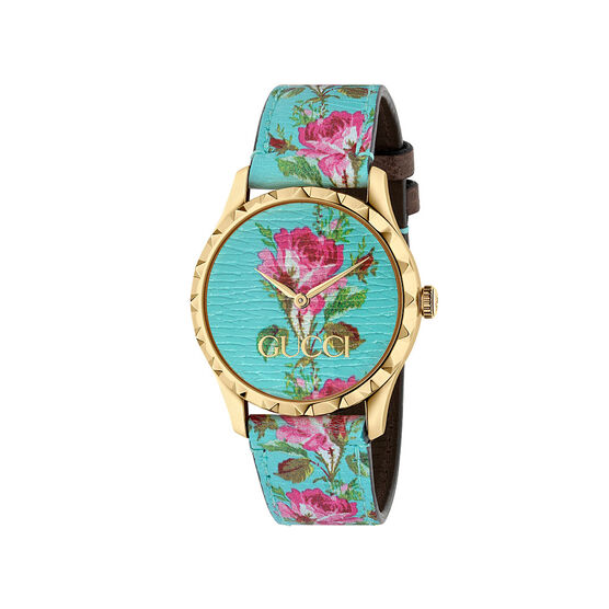 Gucci G-TIMELESS Floral Gold PVD Watch