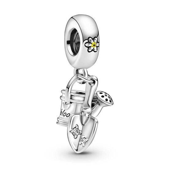 Pandora Watering Can & Trowel Crystal & CZ Dangle Charm