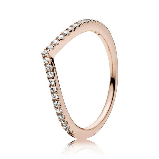 Pandora Sparkling Wishbone CZ Ring