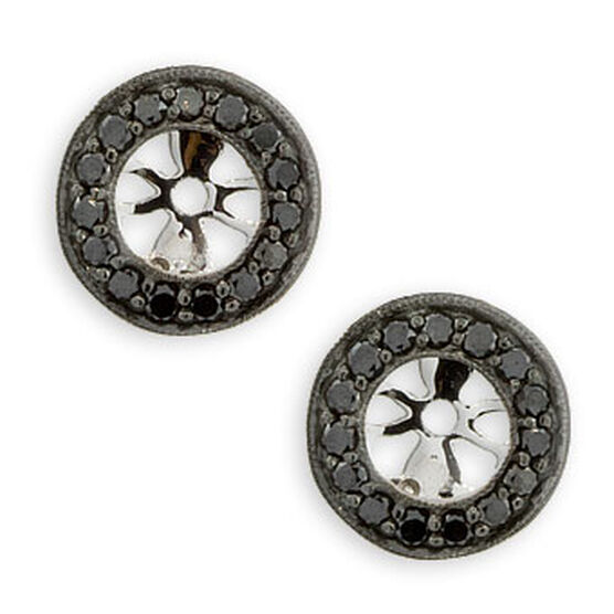 Black Diamond Earring Jackets 14K