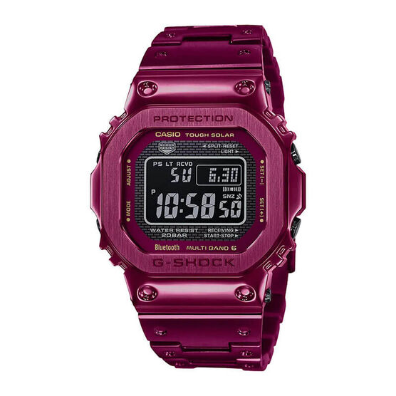 G-Shock Full Metal 5000 Red IP Connected Solar Watch, 49.3mm