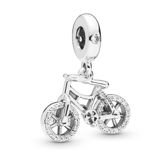 Pandora Brilliant Bicycle CZ Dangle Charm