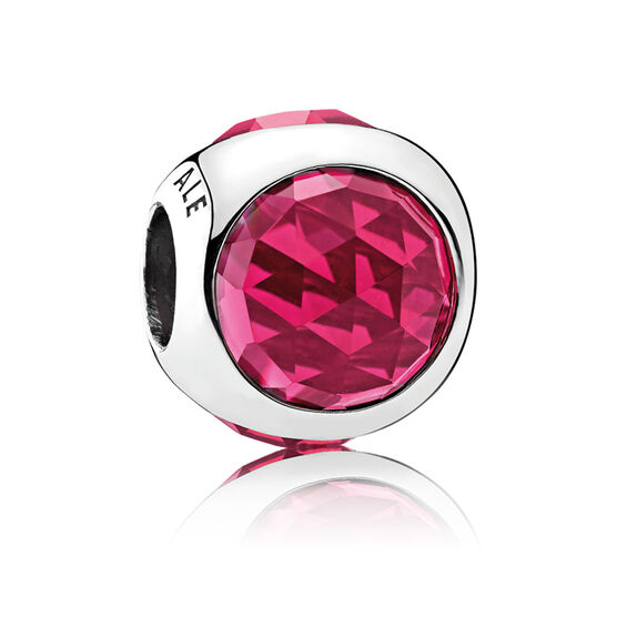 Pandora Radiant Droplet, Cerise Crystals Charm