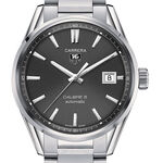 TAG Heuer Carrera Calibre 5 Automatic Mens Grey Steel Watch