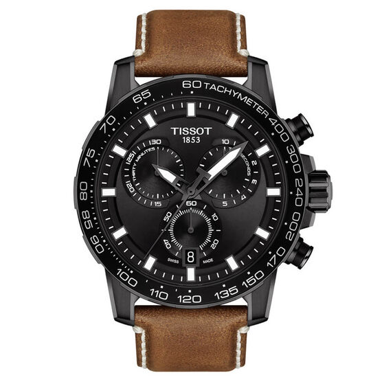 Tissot Supersport Chrono Black PVD Watch, 45.5mm