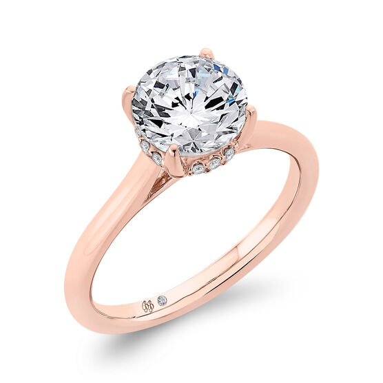 Bella Ponte Rose Gold Engagement Ring Setting 14K