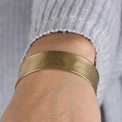 Toscano Hammered Cuff Bracelet 14K