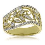 Filigree Floral Diamond Ring 14K