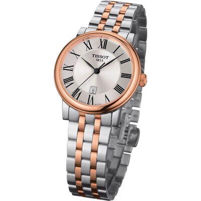 Tissot Carson Premium Lady Two Tone Rose PVD Watch, 30mm