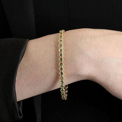 Peridot Tennis Bracelet 14K