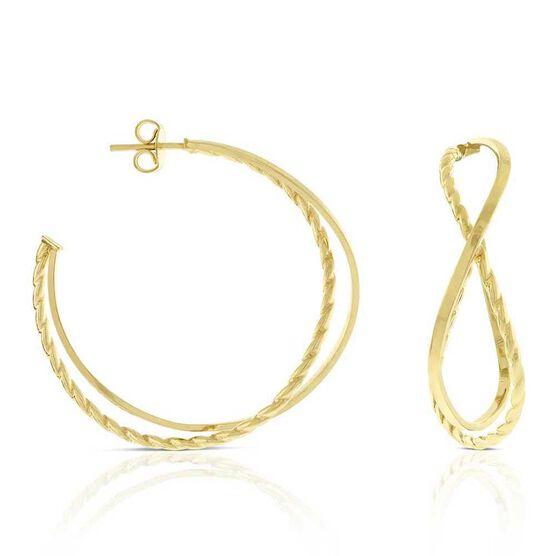 Toscano Abstract Hoop Earrings 14K
