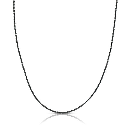 """Lisa Bridge Black Spinel Necklace, 28"""""""