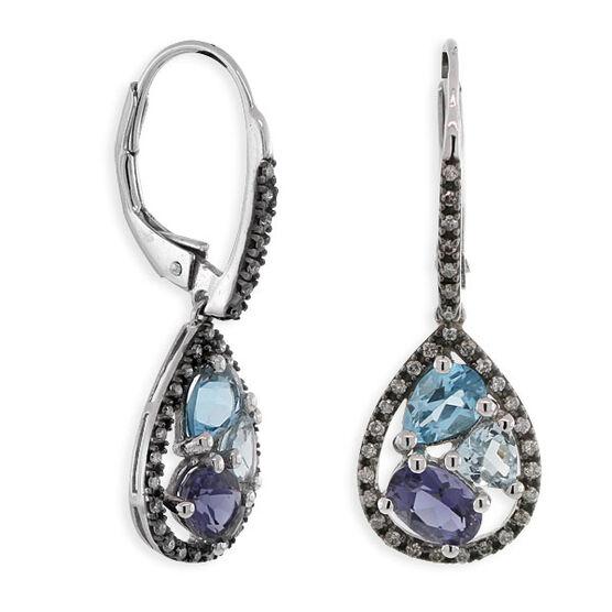 Gemstone & Diamond Earrings 14K