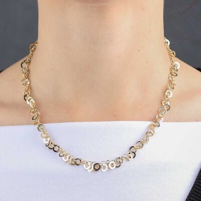 Interlocking Circle Chain 14K