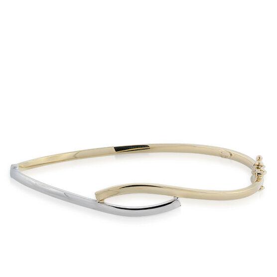 Toscano Bypass Bangle Bracelet 14K
