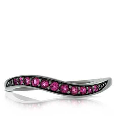 Lisa Bridge Pink Tourmaline Wave Ring