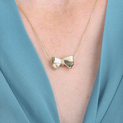 Toscano Bow Necklace 14K