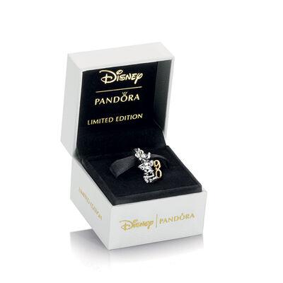 PANDORA Disney, Mickey's 90th Anniversary Charm, Silver & 14K