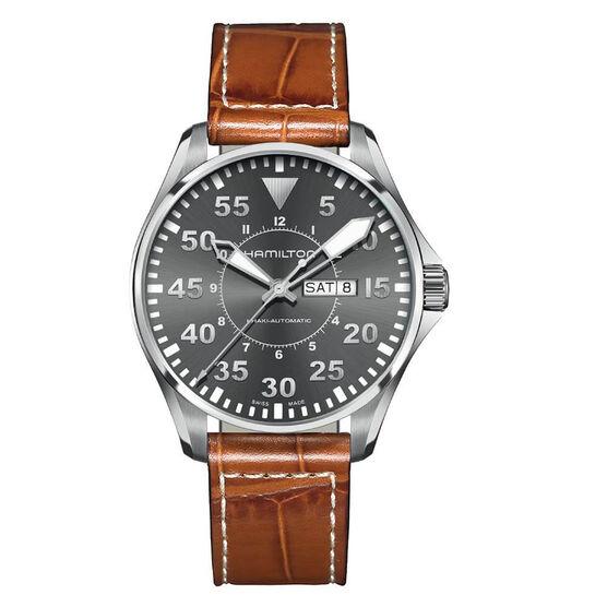 Hamilton Khaki Pilot Day Date Auto Watch, 46mm