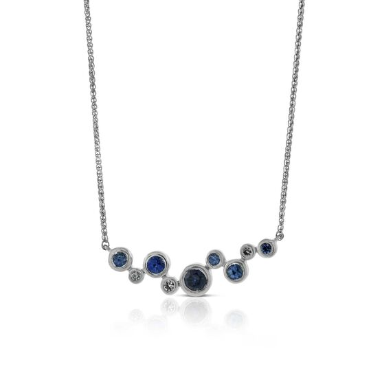 Bezel Set Sapphire Necklace 14K
