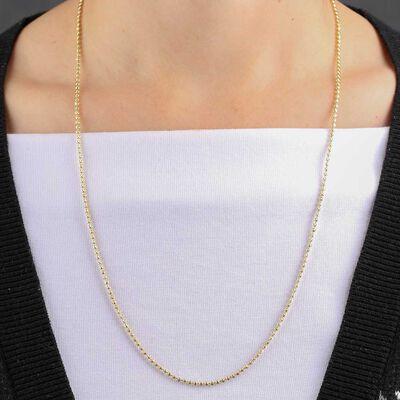 "Moon Cut Bead Chain 14K, 24"""