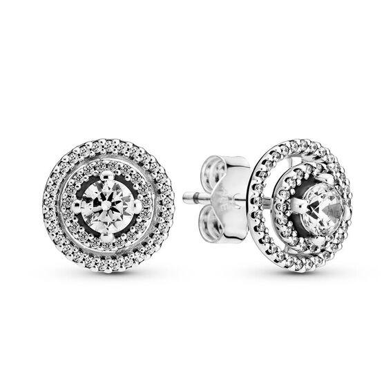 Pandora Sparkling Double Halo CZ Stud Earrings