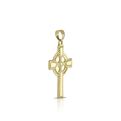 Celtic Cross Pendant 14K