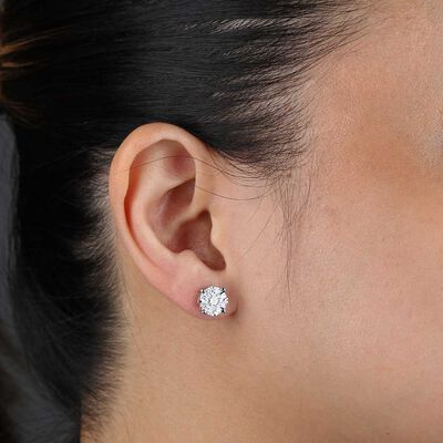 Cluster Diamond Earrings 14K
