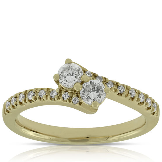 Perfectly Paired 2-Stone Diamond Ring 14K, 1/2 ctw.