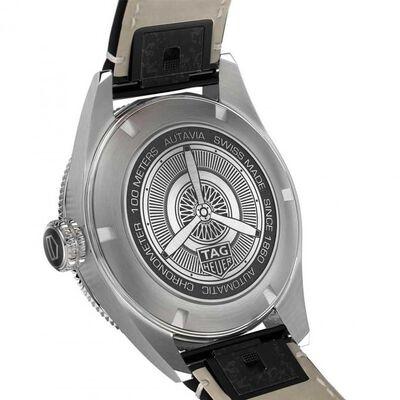 TAG Heuer Autavia Calibre 5 COSC Mens Blue Leather Watch