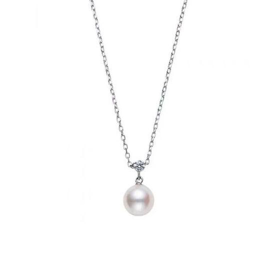 Mikimoto Akoya Cultured Pearl & Diamond Pendant 18K