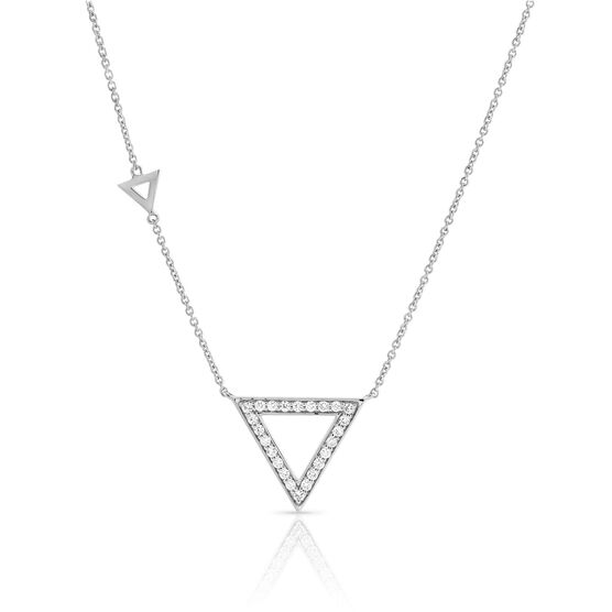 Diamond Triangle Geometric Necklace 14K