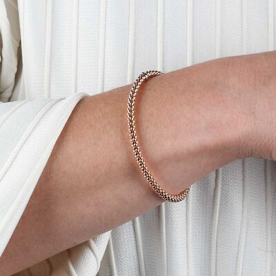 Rose Gold Toscano Stretchy Bangle Bracelet 14K