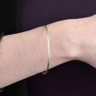 Toscano Slip On Bangle 14K