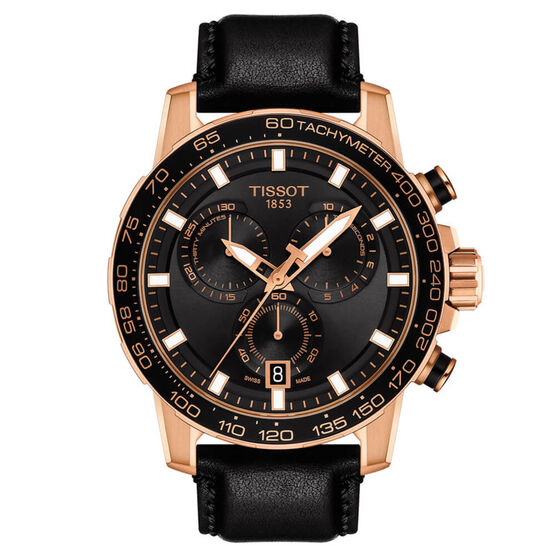Tissot Supersport Chrono Rose PVD Watch, 45.5mm