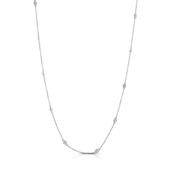 Bezel Set 12-Station Diamond Necklace 14K