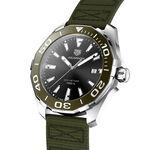 TAG Heuer Aquaracer Quartz Mens Khaki Nylon Steel Watch, 43mm