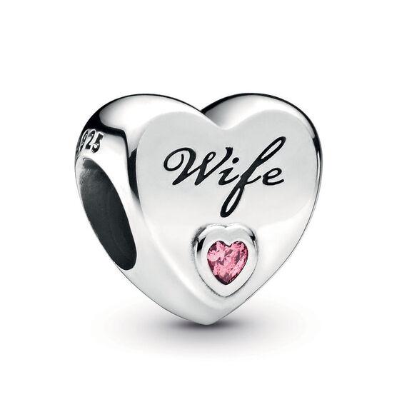 Pandora Wife Love Heart CZ Charm