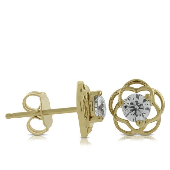 Ikuma Canadian Diamond Flower Earrings 14K
