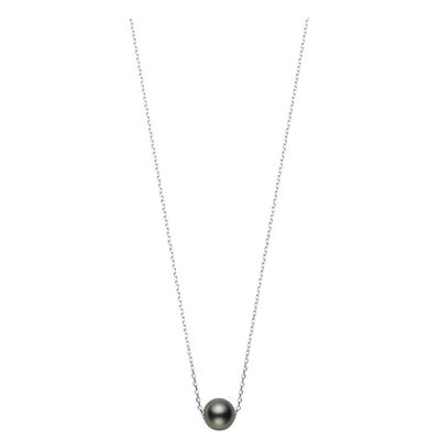 Mikimoto Cultured South Sea Tahitian Pearl Necklace 18K